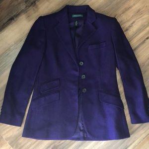 Ralph Lauren sz 4p purple blazer